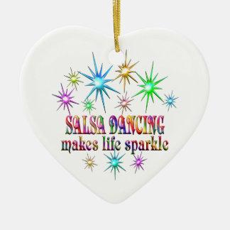 サルサの踊りの輝き セラミックオーナメント