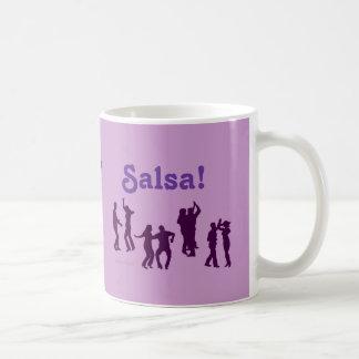 サルサの踊りはカスタムなシルエットを提起します コーヒーマグカップ