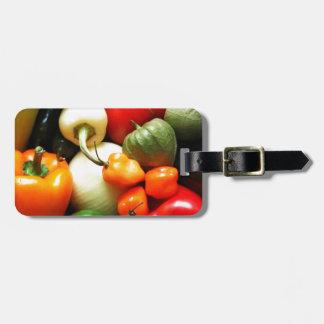 サルサの野菜、トマト、コショウ、タマネギ ラゲッジタグ