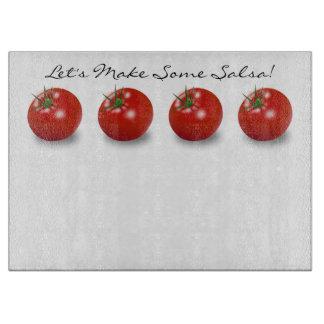 サルサは赤い熟したトマトをカスタムにさせよう カッティングボード