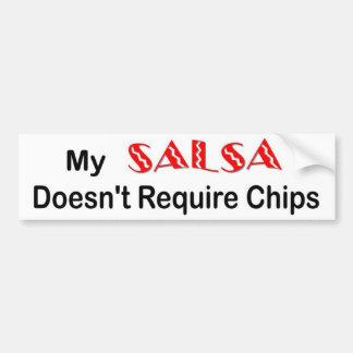 """""""サルサ""""はバンパーステッカーを欠きます バンパーステッカー"""