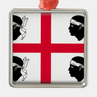 サルジニア(イタリア)の旗 メタルオーナメント
