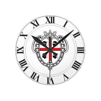 サルジニア(イタリア)の紋章付き外衣 ラウンド壁時計