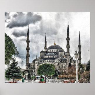 サルタンのアーメドのモスク-イスタンブールトルコ ポスター