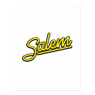 サレムは黄色をネオンサイン ポストカード