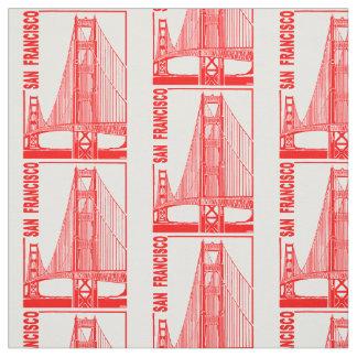 サンのフランシスコ金ゲート橋 ファブリック