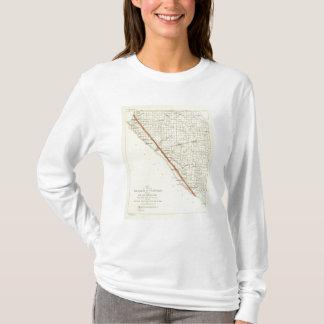 サンアンドレアスの切れ間を示すカリフォルニアの海岸 Tシャツ