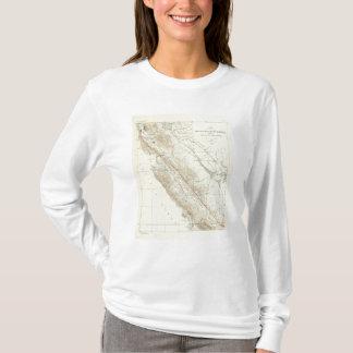 サンアンドレアスの切れ間を示すコースト山脈 Tシャツ