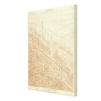 サンアンドレアスの切れ間を示すサン・アントニオの四角形 キャンバスプリント