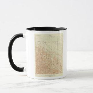 サンアンドレアスの切れ間を示すサン・アントニオの四角形 マグカップ