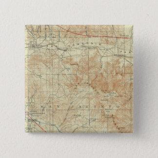 サンアンドレアスの切れ間を示すサンJacintoの四角形 5.1cm 正方形バッジ