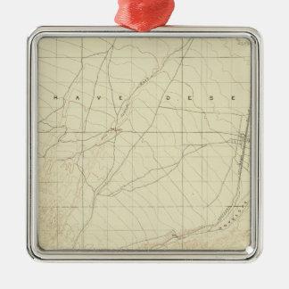 サンアンドレアスの切れ間を示すHesperiaの四角形 メタルオーナメント