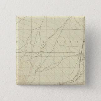 サンアンドレアスの切れ間を示すHesperiaの四角形 5.1cm 正方形バッジ