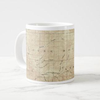 サンアンドレアスの切れ間を示すMt Pinosの四角形 ジャンボコーヒーマグカップ