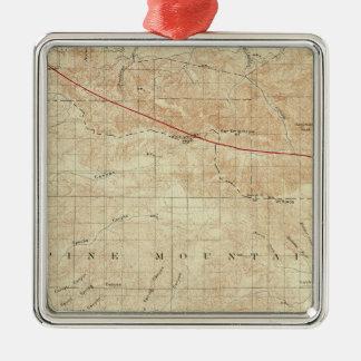 サンアンドレアスの切れ間を示すMt Pinosの四角形 メタルオーナメント