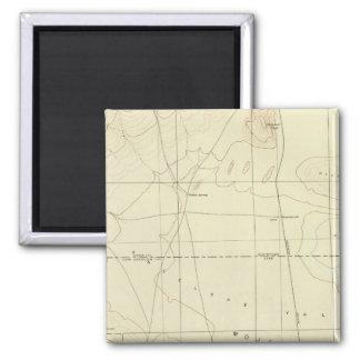 サンアンドレアスの切れ間を示すPalmdaleの四角形 マグネット