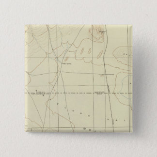 サンアンドレアスの切れ間を示すPalmdaleの四角形 5.1cm 正方形バッジ