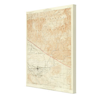 サンアンドレアスの切れ間を示すRedlandsの四角形 キャンバスプリント
