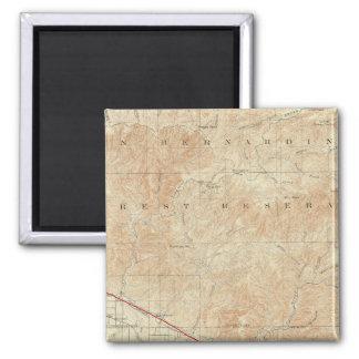 サンアンドレアスの切れ間を示すRedlandsの四角形 マグネット