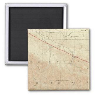サンアンドレアスの切れ間を示すRock Creekの四角形 マグネット
