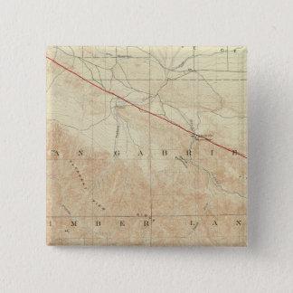 サンアンドレアスの切れ間を示すRock Creekの四角形 5.1cm 正方形バッジ
