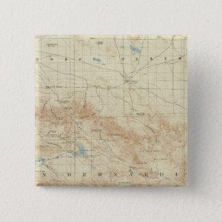 サンアンドレアスの切れ間を示すSan Gorgonioの四角形 5.1cm 正方形バッジ
