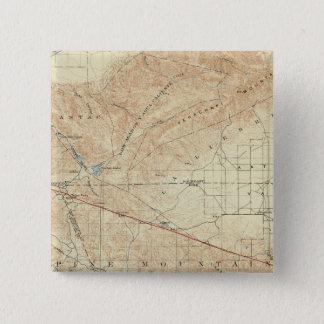 サンアンドレアスの切れ間を示すTejonの四角形 5.1cm 正方形バッジ