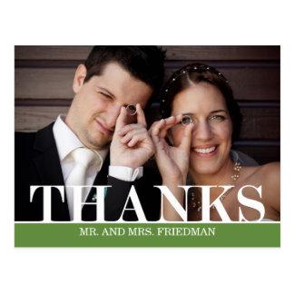 サンキューカードを結婚するはっきりしたな感謝 ポストカード