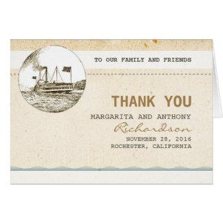 サンキューカードを結婚する巡航のヴィンテージ ノートカード