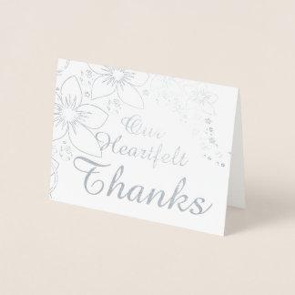 サンキューカード実質ホイルの銀の金ゴールドの結婚 箔カード