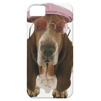 サングラスおよび帽子のバセットハウンド iPhone SE/5/5s ケース