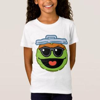 サングラスが付いているオスカーの微笑の顔 Tシャツ
