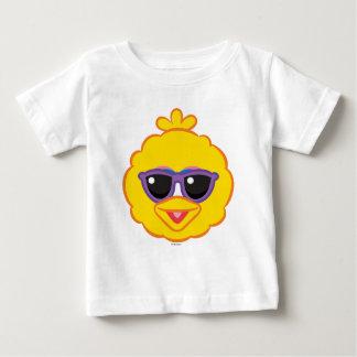 サングラスが付いている大きい鳥の微笑の顔 ベビーTシャツ