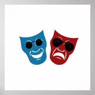 サングラスが付いている戯曲マスク ポスター