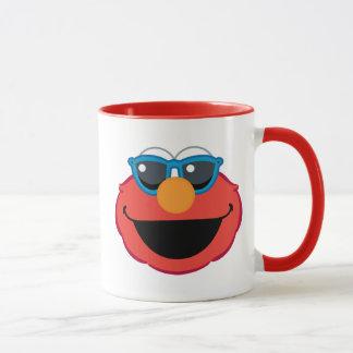 サングラスが付いているElmoの微笑の顔 マグカップ