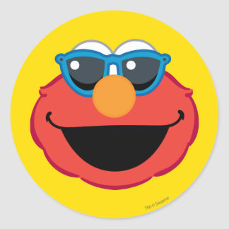 サングラスが付いているElmoの微笑の顔 ラウンドシール