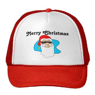 サングラスのメリークリスマスのカッコいいサンタ キャップ