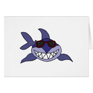 サングラスを持つおもしろいなヨシキリザメ カード
