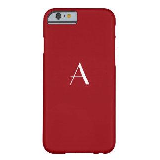 サングリエの赤いモノグラムのiPhone6ケース Barely There iPhone 6 ケース