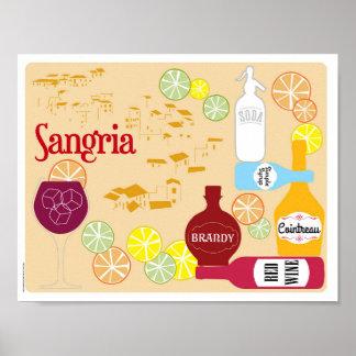 サングリエの赤ワインのカクテル ポスター