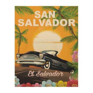 サンサルバドルのヴィンテージ旅行ポスター ウッドウォールアート
