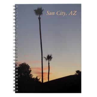 サンシティの日没ジャーナル1 ノートブック