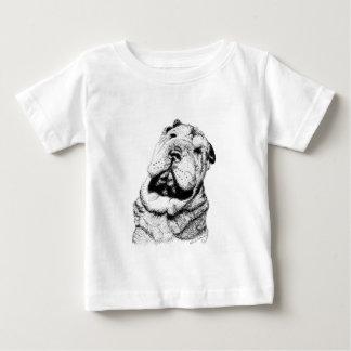 サンシャイステートのShar Peiの救助の乳児のTシャツ ベビーTシャツ