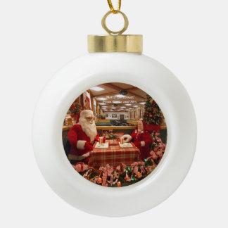 サンタおよび夫人Christmas Ornament 1 セラミックボールオーナメント
