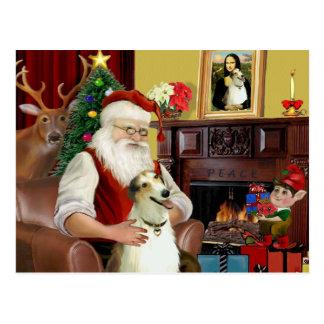 サンタおよび彼のボルゾイ ポストカード