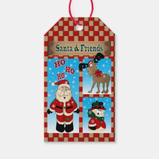 サンタおよび彼の友人 のクリスマス ギフトタグ