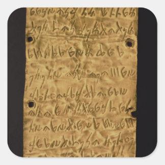 サンタからのPhoenicianの銘刻文字が付いている金ゴールドプレート、 スクエアシール