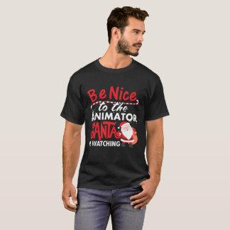 サンタが見ているアニメーターにニースがあって下さい Tシャツ