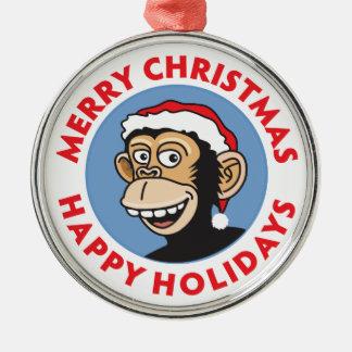 サンタすてきな猿 メタルオーナメント