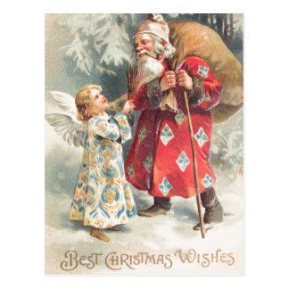 サンタで最も最高のなクリスマスの願い ポストカード